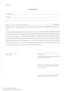 Dichiarazione Sars-COV-2 post visita
